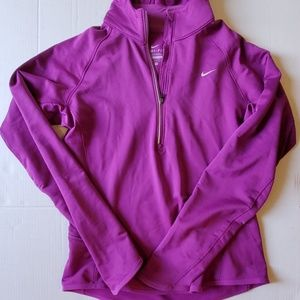 NIKE DRI FIT HOODED LONG SLEEVE RUNNING TOP